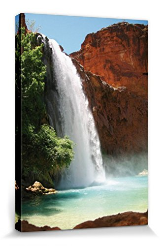 1art1 Wasserfälle - Wasserfall Am Grand Canyon Bilder Leinwand-Bild Auf Keilrahmen | XXL-Wandbild Poster Kunstdruck Als Leinwandbild 120 x 80 cm
