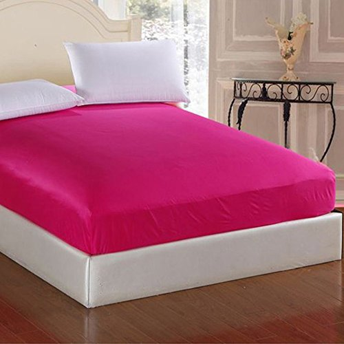 Pingrog Diepe bed, hoeslaken, uniek, elegant, dik jack, voor matrassen, voor dubbele king, grootte en Super King beige, 150 x 200 cm 150X200 Rosarot