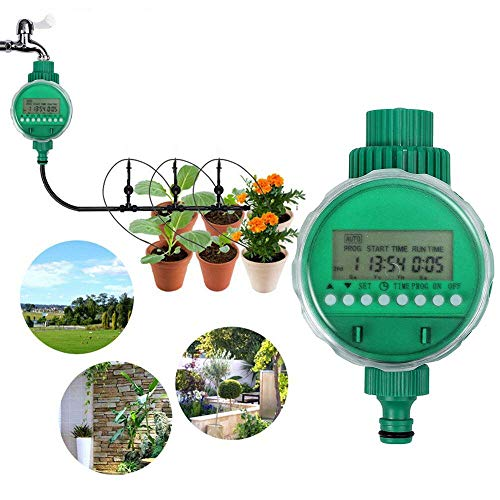 BORUiT LCD Waterproof Digital Water Timer Automatic Irrigation Watering Timer Electronic Garden Irrigation Controller