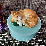 Dw0146 Kätzchen Schlafkatze Mini Katze Silikonform Seifenform Handgemachte Seife Herstellung Formen...