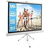 Portable Projector Screen Tripod Stand - Mobile Projection Screen , Lightweight Carry &...