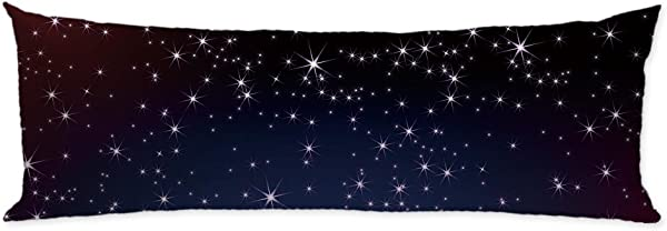 GUGLILI Bright Star In Dark Sky Body Pillow Covers Cases Machine Washable Soft Cotton With Zipper Double Side For Home Couch Sofa Bedding Decorative 20 X54
