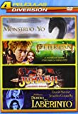 Jumanji / Dentro Del Laberinto / Peter Pan: La Gran Aventura / Mi Monstruo Y Yo - Qua [DVD]