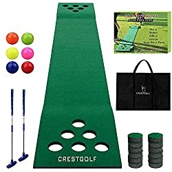 in budget affordable Beer and Pon Green Mat Golf Set, 2 Clubs, 6 Golf Balls, 12 Hole Golf Mat …