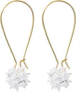 Lotus Flower Simple Big Earrings Female Temperament Wild Japan And South Korea New Earrings Personality Super Fairy Earrin...