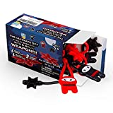 PICK A TOY 12 Pc. Ninja Toys Set with Stretchy Flying Ninjas and Colorful Throwing Stars Slingshots, Flexible and Sticky Elastic, Fun Birthday Party Favors for Boys and Girls
