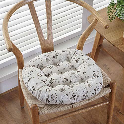 ZMIN Beddengoed van katoen, dikke kussen, Japanse Futon rond zitkussen, zitkussen, zachte tatami vloerbedekking, kussens voor thuis, eten, keuken, kantoor
