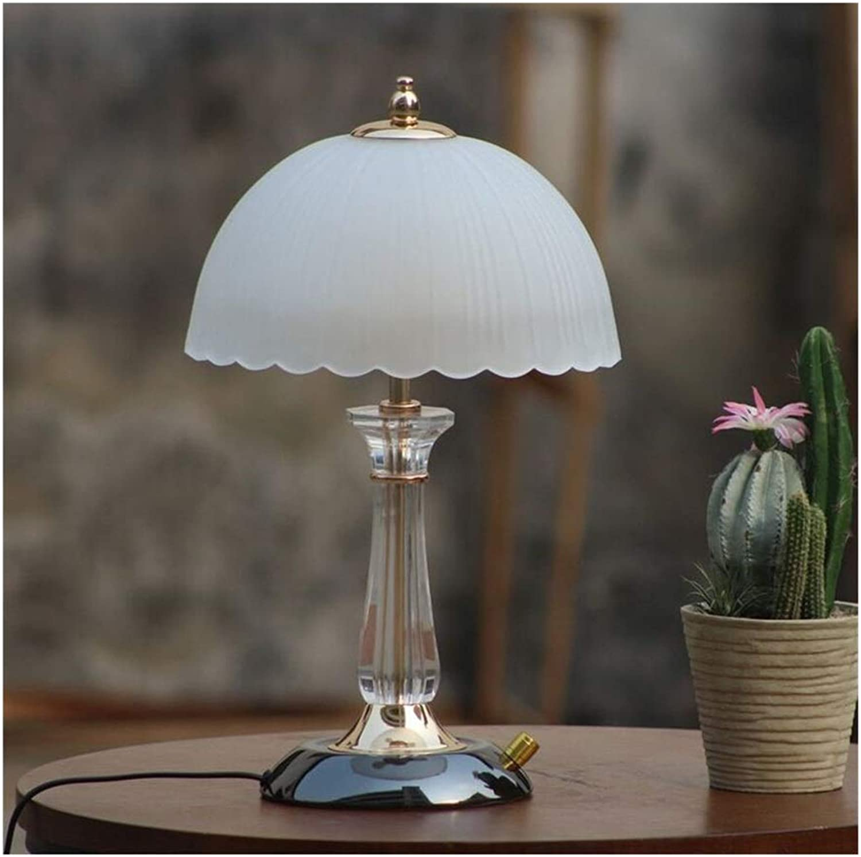 WYGG-Mode Kristall Beleuchtung Schlafzimmer Nachttischlampe Moderne Minimalistische Glas Nachttischlampe Warme Beleuchtung Dimmer
