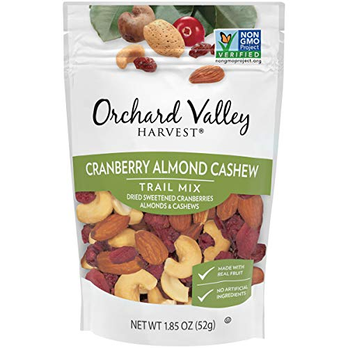 Orchard Valley Harvest, Cranberry Almond Cashew Trail Mix, 1.85 oz (Pack of 14), Non-GMO, No Artificial Ingredients