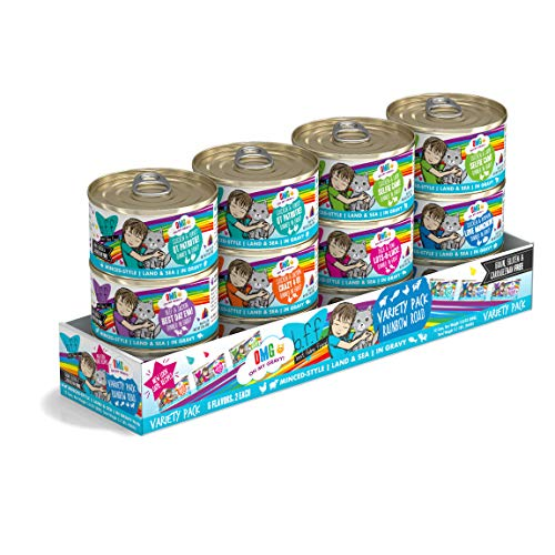 12-Pack 2.8-Oz Weruva BFF OMG Rainbow Road Variety Pack Canned Cat Food $7.75
