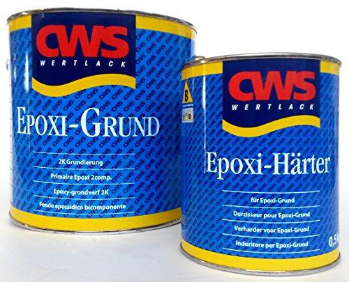 CWS Epoxi Basis wit, 2,5 l - Stammlak voor matte tweecomponenten-universele primer voor ondergronden zoals hard PVC, acryl, melaminehars gecoate platen, resopal, glas, aluminium, zink, ijzer, staal, keramische tegels, non-ferrometalen enz.