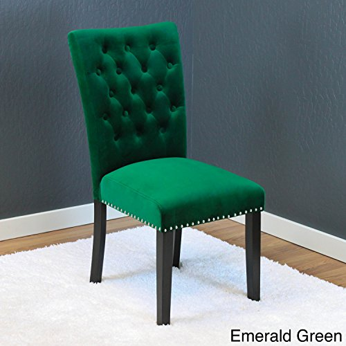 Monsoon Markelo Tufted Velvet Dining Chairs (Set of 2) Emerald Green