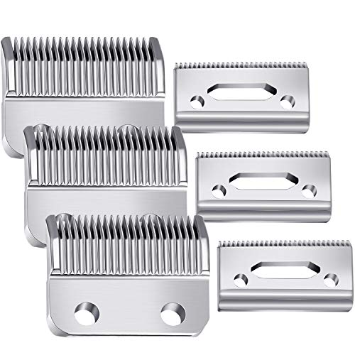 3 Sets Hair Clipper Replacement Blades Adjustable Clipper Blades 2 Hole (1mm - 3mm) Hair Trimmer Replacement Blades Compatible with Wahl 1006, Super Taper #8400 (Silver)