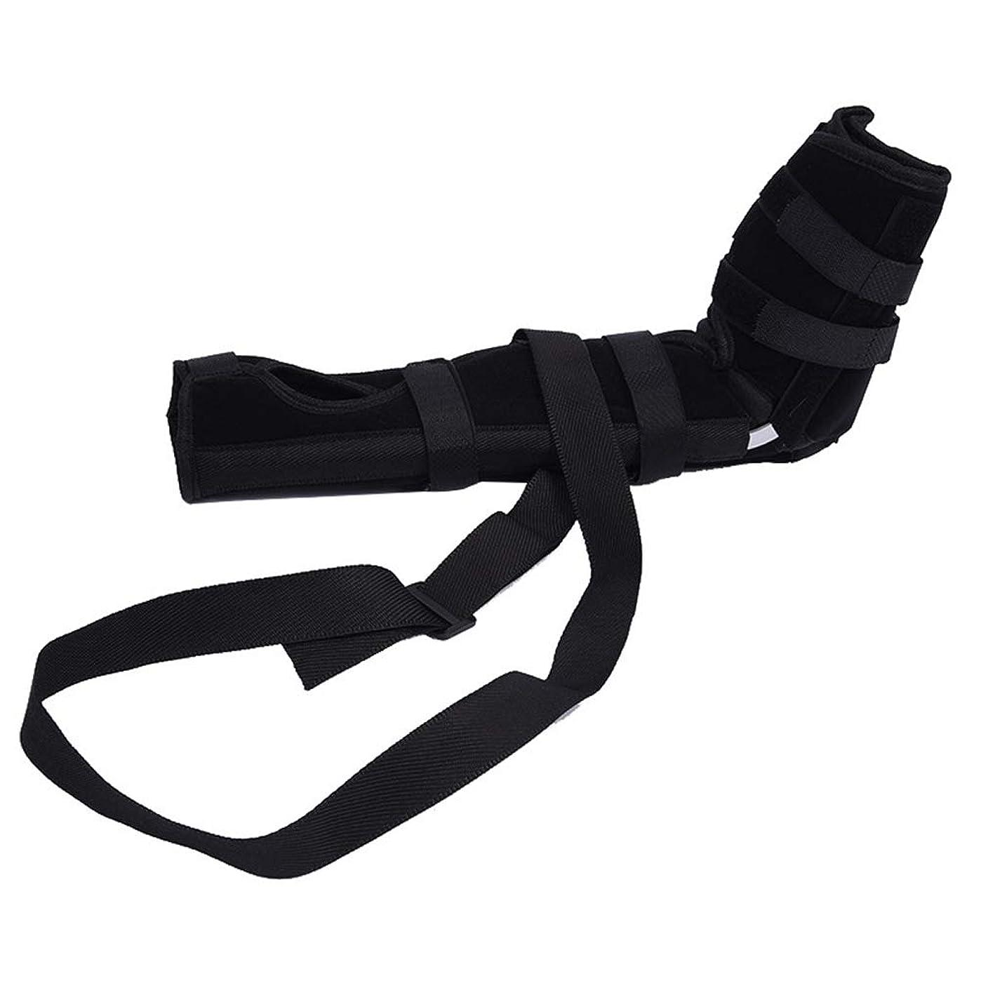 縁定数ヘルメットSUPVOX 肘ブレース 関節サポート アームリーダー 保護 固定 腕つり 関節 保護 男女兼用 調節可能 通気性 術後ケアブレース(ブラック サイズL)