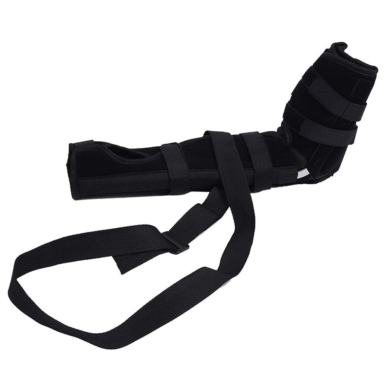 多様なシルエット断言するSUPVOX 肘ブレース 関節サポート アームリーダー 保護 固定 腕つり 関節 保護 男女兼用 調節可能 通気性 術後ケアブレース(ブラック サイズS)