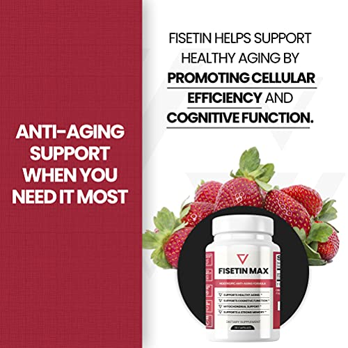51MIn0N1byS. SL500  - Fisetin Max | Nootropic Anti-Aging Supplement - Doctor Approved Antioxidant Support for Healthy Aging, Better Brain Health, Improved Energy Levels, and Maintaining Strong Memory* - 30-Day Supply