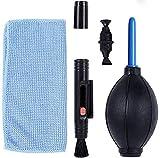 Kit de Limpieza para cámaras. Kit de Limpieza para cámaras DSLR y Dispositivos electrónicos delicados, Botella de espray, bolígrafo y paño de Microfibra. (Canon, Nikon, Pentax, Sony)