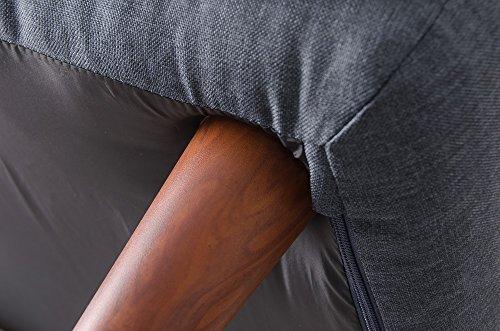 セルタン日本製ポケットコイルカウチソファー和楽の極ハイバック二人掛けタスクグリーン背部肘部リクライニングA316p-583GRN