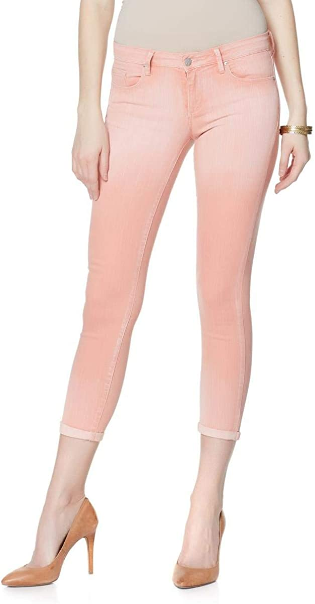 Jessica Simpson Rolled Crop Skinny Jeans, White, 6/28