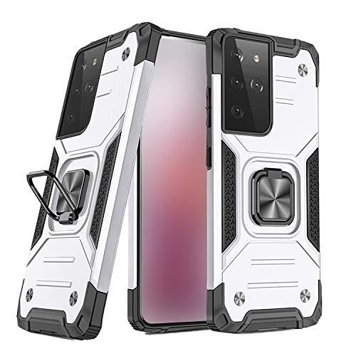 Galaxy S21 Ultra 5G ケース/カバーTPU スタンド機能 リング付き 2重構造 サムスン ギャラクシー S21ウルトラ 耐衝撃ケース/カバー おしゃれ一体型スマホリング付き アンドロイド スマフォ スマホ スマートフォンケース/カバー[G