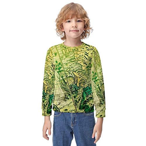Athletic Pullover Hoodie Hooded Sweatshirt for Teen Girls Boys, Long Sleeves Fit 3D Print Sportswear (World Map Hoodies)