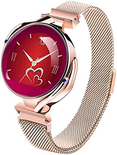 Reloj Inteligente Mujer Monitor Reloj Fitness Tracker Deportes Pulsera Inteligente Señora Chica Smartwatch-C-C