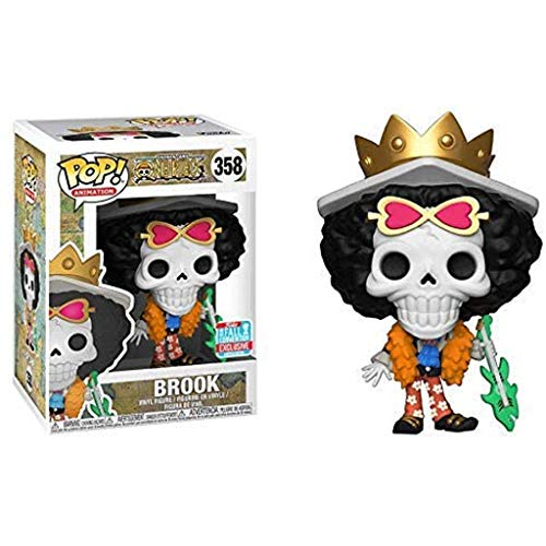Gogowin Pop Animtion : One Piece - Brook (Exclusive) Figure 3.75inch Vinyl Gift for Anime Fans Chibi Figure