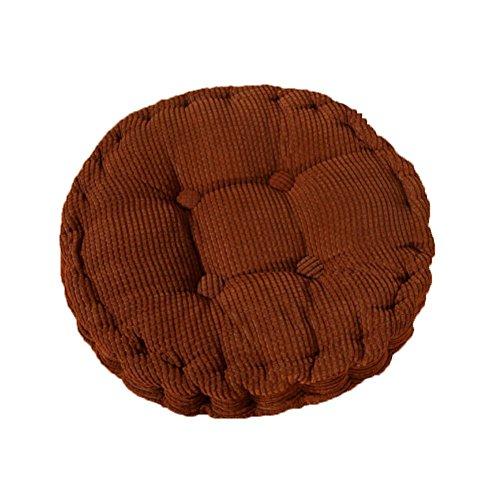 MSYOU - Cuscino per sedia morbido, rotondo, comodo, per casa, cucina, giardino, sala da pranzo, ufficio, 40 x 40 cm, colore: marrone
