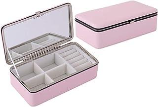 Zhicaikeji Boîte de Rangement pour Bijoux Boîte de Rangement en Cuir pour Bijoux (Couleur : White, Size : 18.2 * 10.2 * 5....
