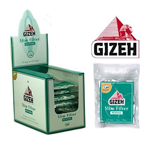 20 Beutel á 120 GIZEH Slim Filter Menthol