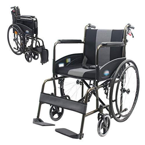 Wheelchair Faltbaren Rollstuhl, Verdickte Sitzkissen Mesh-Sitzrückenkissen Geeignet for Nicht-Schlauchboot Mit Selbstantrieb Ältere/Behinderte Menschen