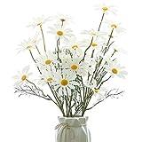 NAHUAA 4Pcs Flor de Seda Artificial Margarita Falsa Arreglo Floral de Imitación...