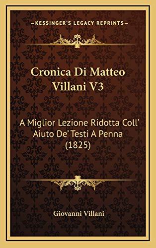 Cronica Di Matteo Villani V3