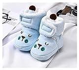 WanXingY Zapatos de bebé Caliente de Invierno 0-1 años de Edad adecuados para Zapatos de bebé Ruso Zapatos para niñas Antideslizantes para niñas de Felpa Bote de bebé recién Nacidos