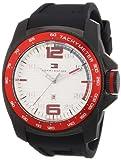 Tommy Hilfiger 1790854 - Reloj analógico de Cuarzo para Hombre con Correa de Silicona, Color Negro