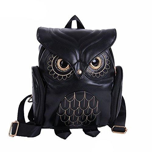 Btruely Handtasche Damen Braun Mode Nette Eule Rucksack Frauen Cartoon Schultaschen Für Teenager Mädchen Shopper Bag Damen Handtasche Einkaufstasche mit Große Kapazität