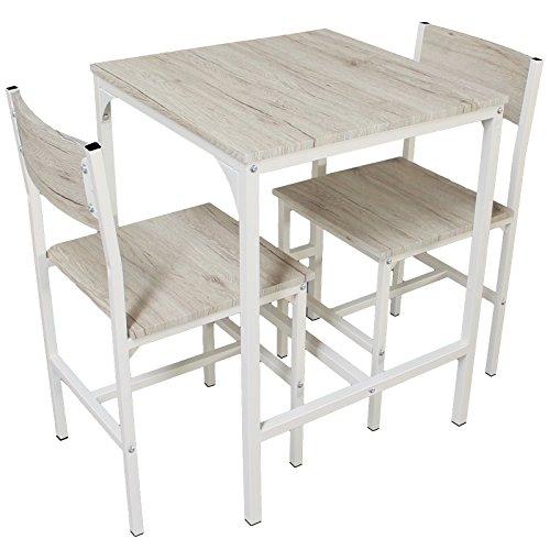 YELLOO Set Tavolo Bar con 2 Sedie Beige Cucina Tavolino Mobili MOD. Portofino