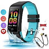 Montre Connectée Femmes Homme Etanche Bracelet Connecté IP67 Smartwatch Sport Fitness Tracker Android iOS Sleep Monitor Card Cardiofréquencemètre Montre Intelligente