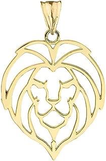 lion head charm 14k