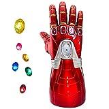 Guanto da caccia Yacn di Iron Man, del film degli Avengers Endgame gemme dell'Infinito, guanto che si illumina (guanto da adulto) Kids Detachable Taglia unica