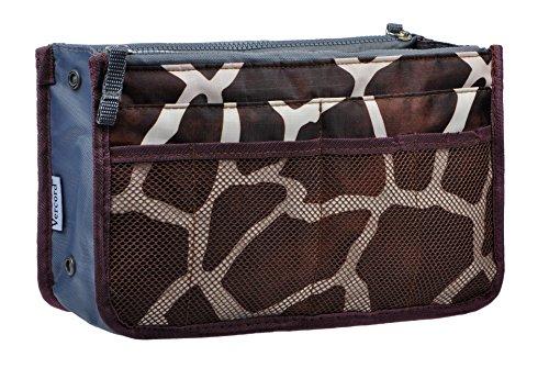 Vercord Purse Organizer Insert Handbag Organizer Bag in Bag 13 Pockets Blue Large
