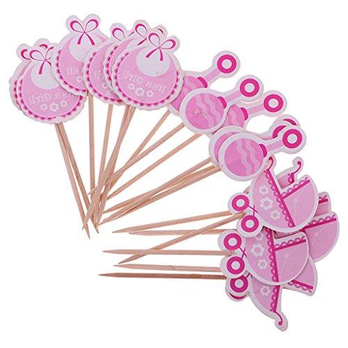 Homyl 18x Baby Cupcake Toppers Kuchendeko Tortendekoration Muffin Aufsatz Dekoration für Kuchen geeignet für Geburtstagsparty - Es ist EIN Mädchen