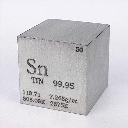2,5cm 25,4mm hand-ground Dose Metall Cube 99,95% 119gramm Gravur Zeitraum Tisch