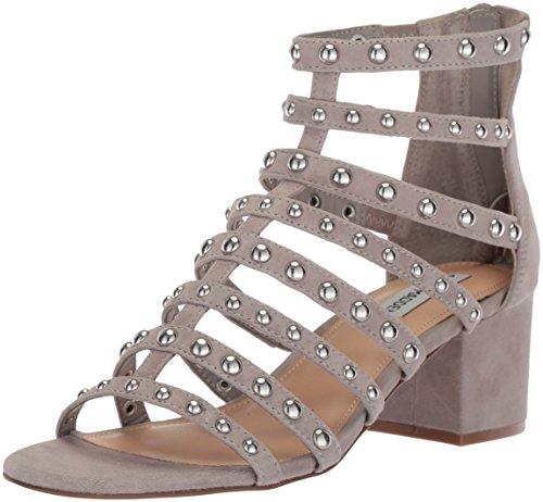 Steve Madden Women's Mania Heeled Sandal, Grey/Multi, 10 M US