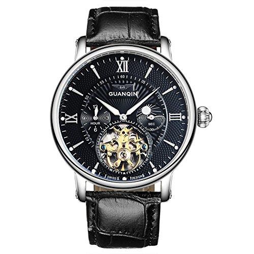 Reloj analógico automático de hombre Guanqin, de acero ino