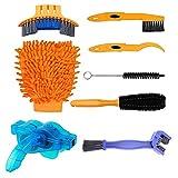 Fgh - Kit de herramientas de limpieza para cadenas de bicicleta de montaña, cepillo de lavado, set de reparación de cadenas de ciclismo, accesorios protectores de reparación