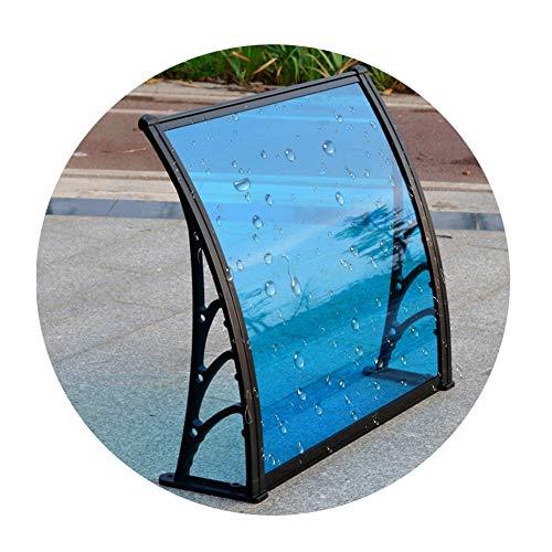 LICHUN Awning Rain Door Canopy, Outdoor Balcony Shelter From Rain And Silence, Aluminum Alloy Bracket, Rainproof PC Endurance Board (Color : B, Size : 80X80CM)