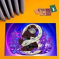 鸣人地毯红月团图卡通游戏人物地毯/装饰地垫客厅卧室防滑,卡通爱好者和户外暖脚圣诞礼物-A_80x120cm
