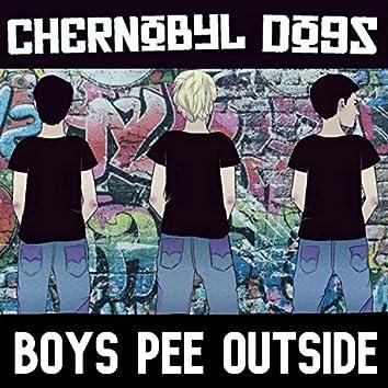 Boys Pee Outside