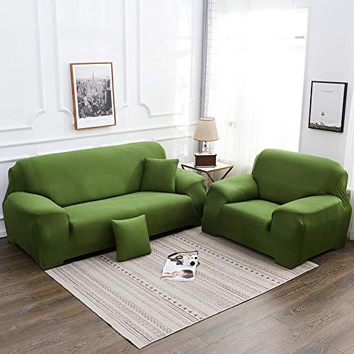 Bankovertrek, elastisch, voor woonkamer, bankovertrek, elastisch, 100% katoen, groen